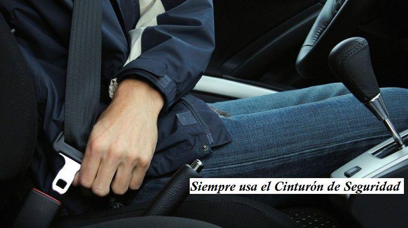 Conducción segura de vehículos Cinturón de seguridad