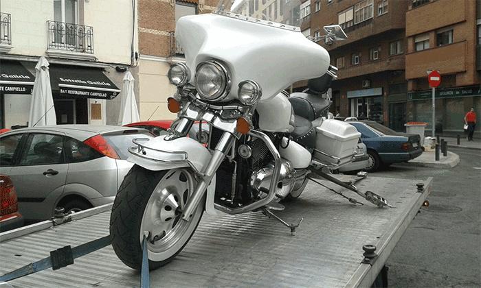 gruas para motos